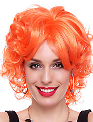 Wild Queen Orange Synthetic Fiber 30cm Women's Halloween Party Wig
