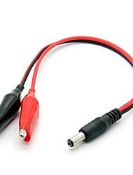 Câble de câble de test clip cordon d'alimentation de 5,5 x 2,1 mm alligator continue (29cm)