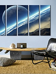 Stretched Canvas Art Space Scenery Set of 5
