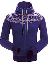 Moletom/Jaquetas em Velocino ( Cinzento/Roxo ) - deEsqui/Acampar e Caminhar/Caça/Pesca/Alpinismo/Skate/Fitness/Golfe/Corridas/Esportes