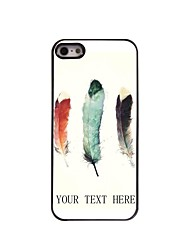 Personalized Gift Three Feather Design Metal Case for iPhone 5/5S