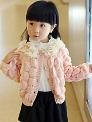 Girl's Pink Sweater & Cardigan Knitwear Winter / Spring / Fall
