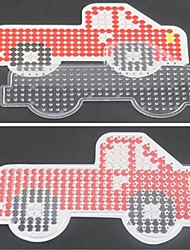 1PCS Template Clear Perler Beads Pegboard Red Truck Pattern for 5mm Hama Beads Fuse Beads