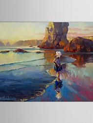 main peints à l'huile peinture paysage innocence gras par steve henderson avec cadre étiré