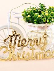 10шт веселый список Рождество смолы висит украшение (19,5 * 10см)