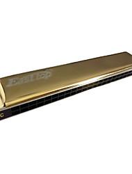 EASSTTOP - (T24-9) 24 Harmonica Tremolo Buracos com caixa de madeira (2 Keys-Pack)