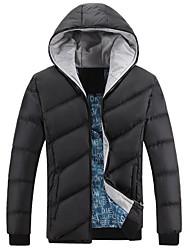 colar o hoodie ocasional cor sólida manga longa dos homens outwear