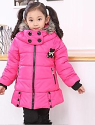 Girl's Fashion Leisure Warm with Hood Coat