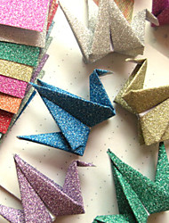 Flash Powder Papercranes Origami Materials(12 Pieces/Bag)