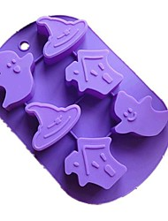 Halloween Ghost Haunted House Cake Chocolate Baking Silicone Mold,L26cm*W17.5cm*H2.8cm