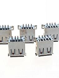 -um conector USB 2.0 tomada horizontal feminino SMD (5pcs)