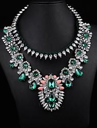 luxe vert joyau déclaration du collier des femmes