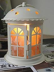 Table Lamps White 220V Crystal Salt Iron Art European Retro Classic