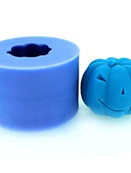 Halloween Pumpkin Fondant Cake Chocolate Candle Silicone Mold,L4.2cm*W4.2cm*H3.4cm