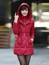 inverno delle donne di stare dimagrire cotone cappotto midi imbottita