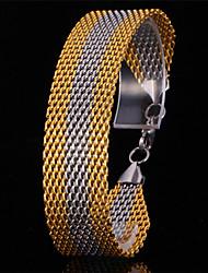 gourmette bracelet en or 18 carats trapu du platine U7 hommes