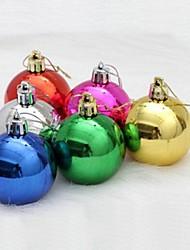 6 pcs decorações de natal penduradas bolas de queda multicolor colocação aleatória (φ = 10cm)