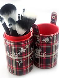 pro alta calidad 14 piezas pincel de pelo sintético maquillaje con cilindros con flores tubulares de 5 colores seleccionables