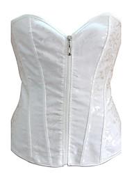 jacquard frente busk fechamento shapewear corset desossa das mulheres