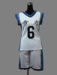 cosplay costume inspiré par le basket-ball qui joue Kuroko Aomine daiki Teiko collège équipe de basket uniforme blanc n ° 6
