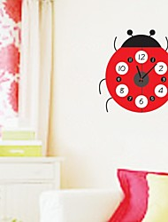 zooyoo® хронометрист Электронная батарея DIY красочные формы Семиточечная коровка настенные часы настенные наклейки домашнего декора