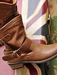 inverno delle donne di martore nuova moda tacchi bassi annata doc stivali