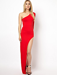 elegantwomen'sone плеча цветом платья
