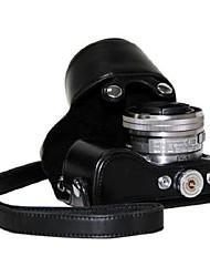 caso protetor pajiatu® pu óleo do couro da câmera da pele para a lente 16-50mm Sony NEX-5R NEX-5t NEX-5TL NEX-5RL