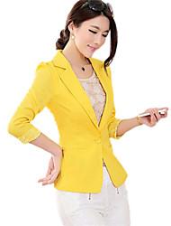 bodycon colore solido manica lunga giacca sportiva di modo delle donne