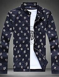 moda coroa impressão de lazer jaqueta de homens