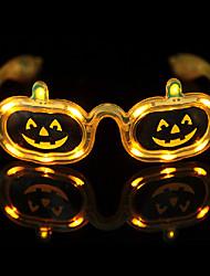 LED Glasses Novelty Pumpkin Pattern PVC