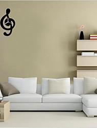 3d bricolage style moderne nouvelle notation de la musique miroir mural horloge