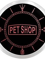 materiales del taller para animales domésticos letrero de neón perro llevó reloj de pared