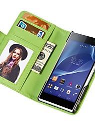 Soft-Touch-Mappe PU-lederner Fall für Sony Xperia z2