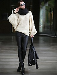 Women's Trendy Autumn and Winter Skinny Faux Leather Pants