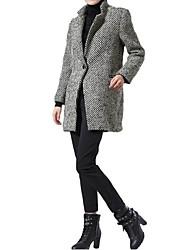 getande kraag een knop vrouwen medium lange warme jas