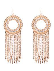 Drop Earrings Hoop Earrings Rhinestone Simulated Diamond Alloy Silver Golden Jewelry Wedding Party Daily Casual Sports