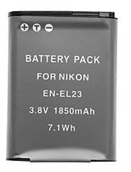 3.7v 1850mAh mini-dv battery pour Nikon Coolpix P600 en-EL23