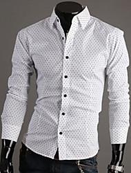 citysailor Männer Langarmshirt slim Revers Hals causual 100% Baumwoll-Shirts