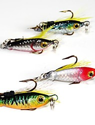 4 pcs Hard Bait / Metal Bait / Lure kits / Fishing Lures Metal Bait / Hard Bait / Lure Packs Black / Green / Red / Blue g/1/6 oz. Ounce mm