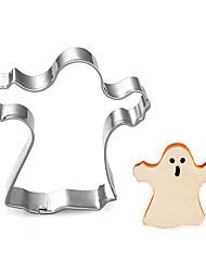 Halloween thème sorcière coupe forme de cookie, l 6,3 cm xl 2,5 cm xh 6cm, acier inoxydable