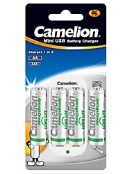 Camelion Standard Charger for AA/AAA Battery with 4pcs AlwaysReady 1000mAh Ni-MH AA Rechargeable Batteries