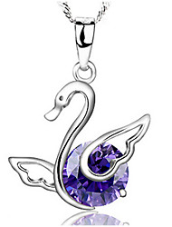 Pure Women's Silver-Plated Pendant Necklace
