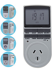 Programmable EU/AU/US/UK Plug Digital Timer Switch Socket LCD Display 24 Hours 7 Day Week Time Controller Outlet