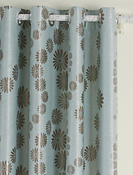 TWOPAGES® (Two Panels Grommet Top) Chrysanthem Mother Blackout Curtain
