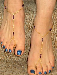Women's Handmade Beads Mittens Anklets
