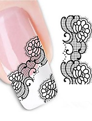 Water Transfer  Printing  Nail Stickers XF1341