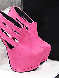 Beauty Girl Women's Fashion Wedding High Heel Platform Shoes (Fuchsia)