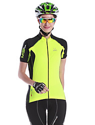 MYSENLAN® Cycling Jersey Women's Short Sleeve BikeBreathable / Quick Dry / Ultraviolet Resistant / Moisture Permeability / Front Zipper /