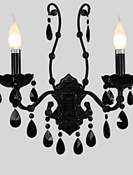 Black crystal wall lamp